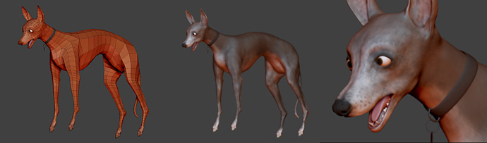 Greyhound Model in Zbrush 3.12